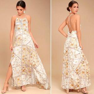 Revolve Somedays Lovin' Cream Floral Maxi Dress